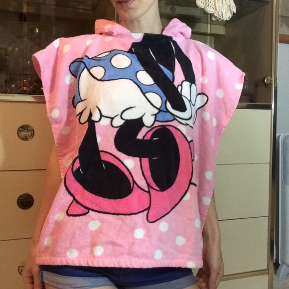 Disney Other - Towel Terrycloth Bathrobe Minnie Mouse